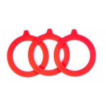 Jar Rubber Seal Rings 10pcs - Red